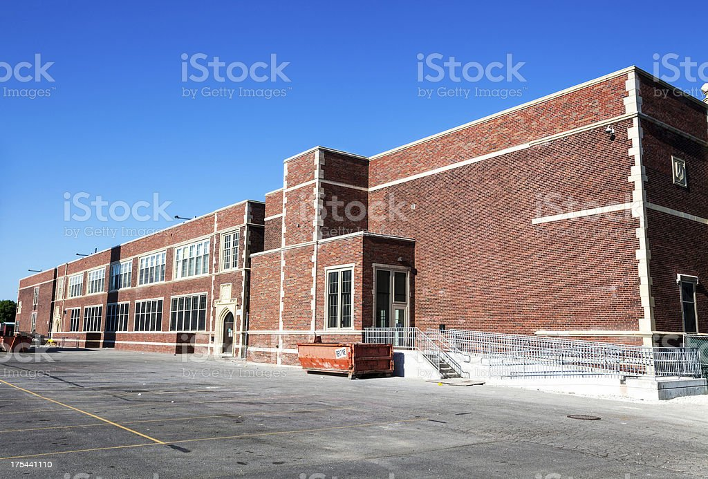 Pasteur Elementary School in West Elsdon, Chicago royalty-free stock photo