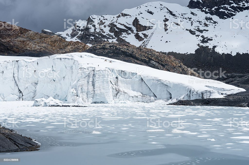 Pastoruri glacier in Cordillera Blanca, Northern Peru stock photo