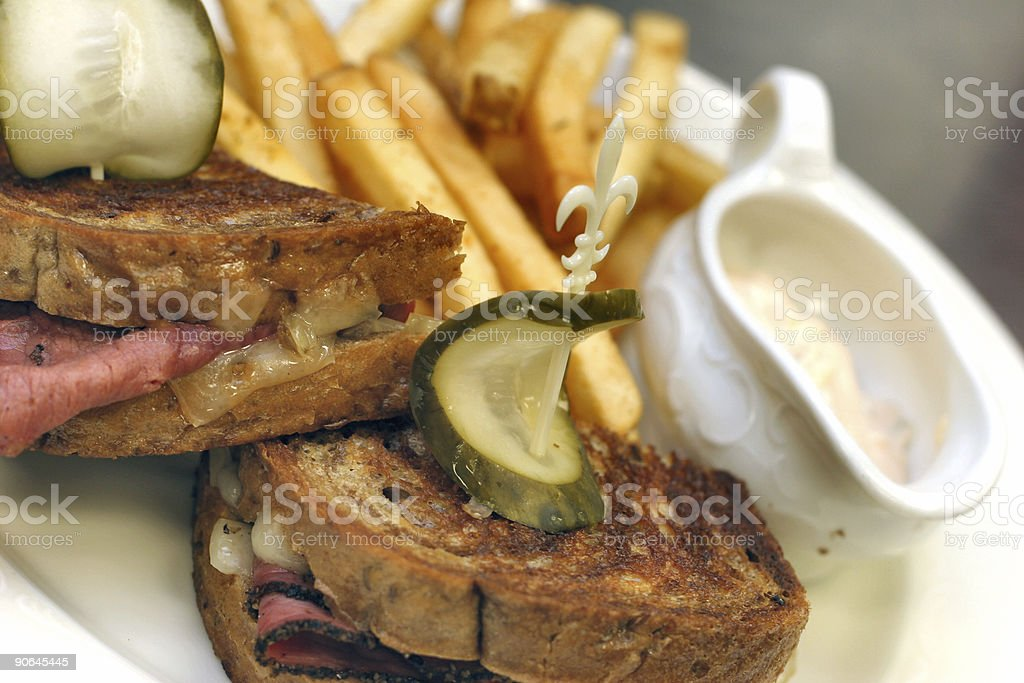 Pastrami Reuben royalty-free stock photo