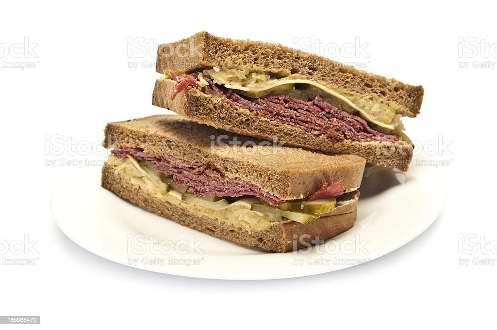 Pastrami Sandwich royalty-free stock photo