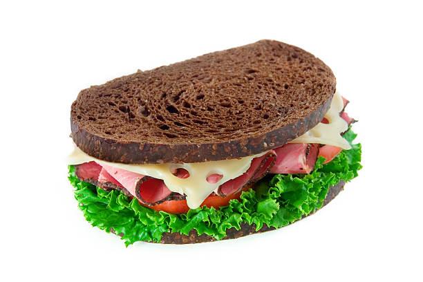 Pastrami & Swiss Sandwich stock photo
