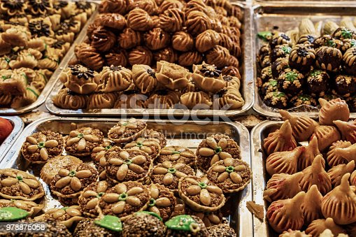 Pastries cookies and sweets in Morocco