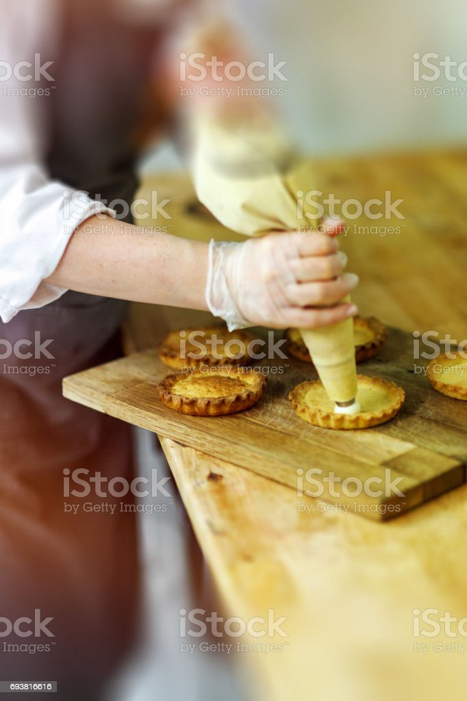 Pastries making process stock photo