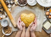 istock Pastry, cakes, cook their own hands. Selective focus. 1045869718
