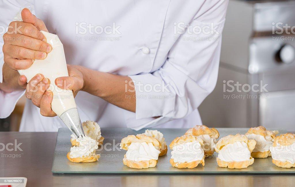 chef pâtissier décoration - Photo