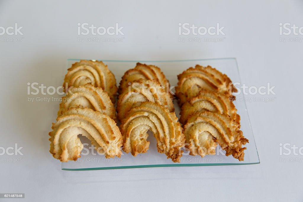 Pâtisserie biscuits sur fond blanc photo libre de droits