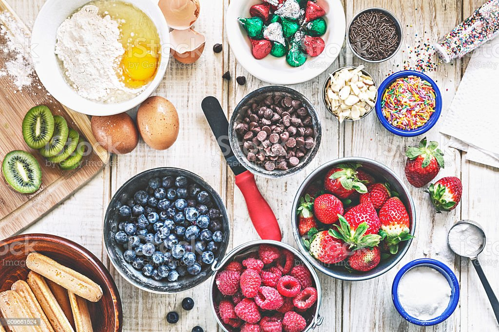 Pastry Ingredients stock photo