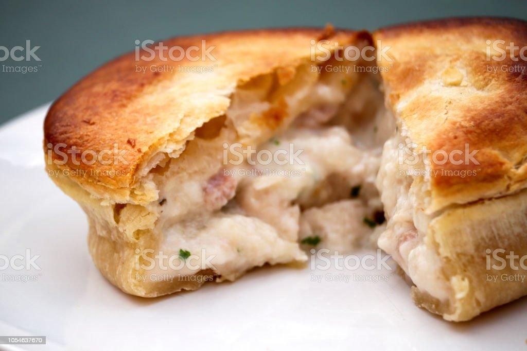 Pastry Meat Pie stock photo
