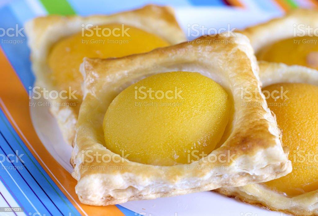 pastry peach stock photo
