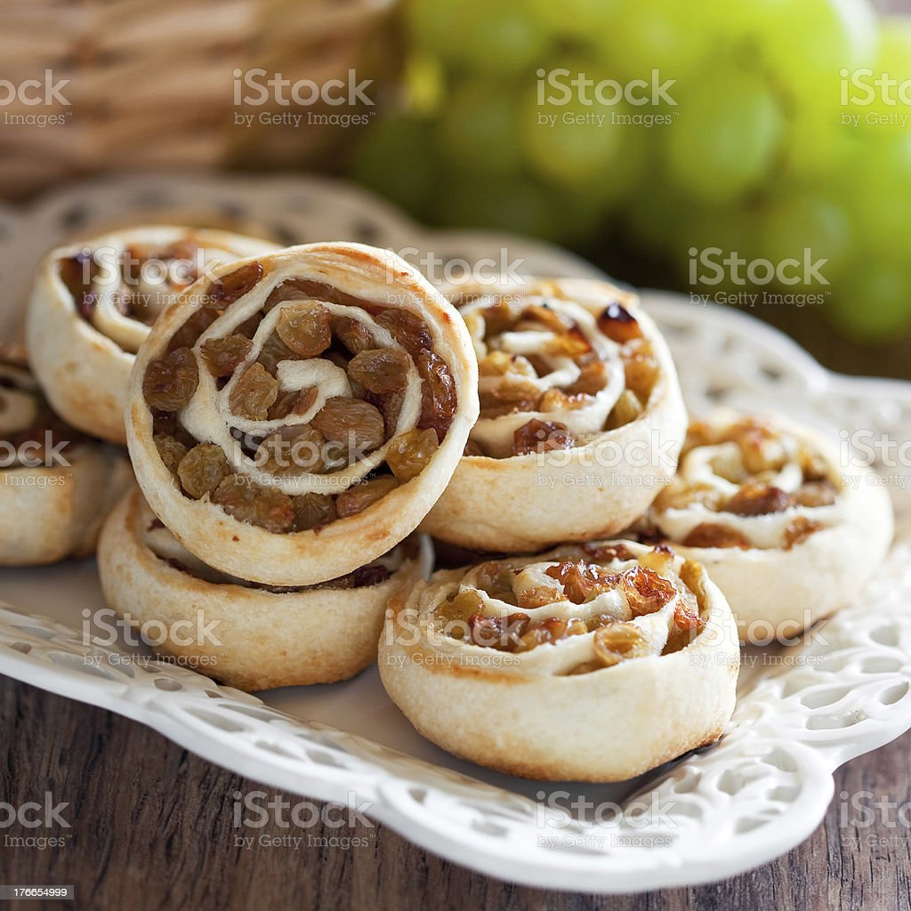 Pastry roll royalty-free stock photo