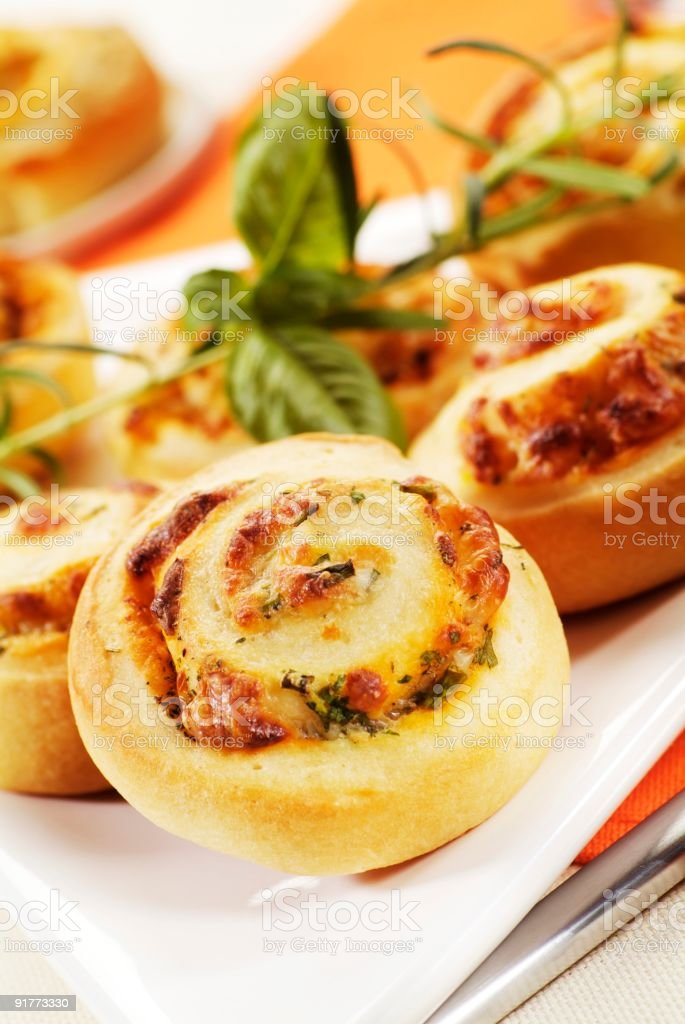 Pastry rolls with herb filling royalty-free stock photo