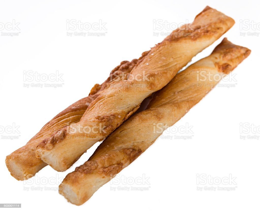 Pastry Sticks isolated on white stock photo