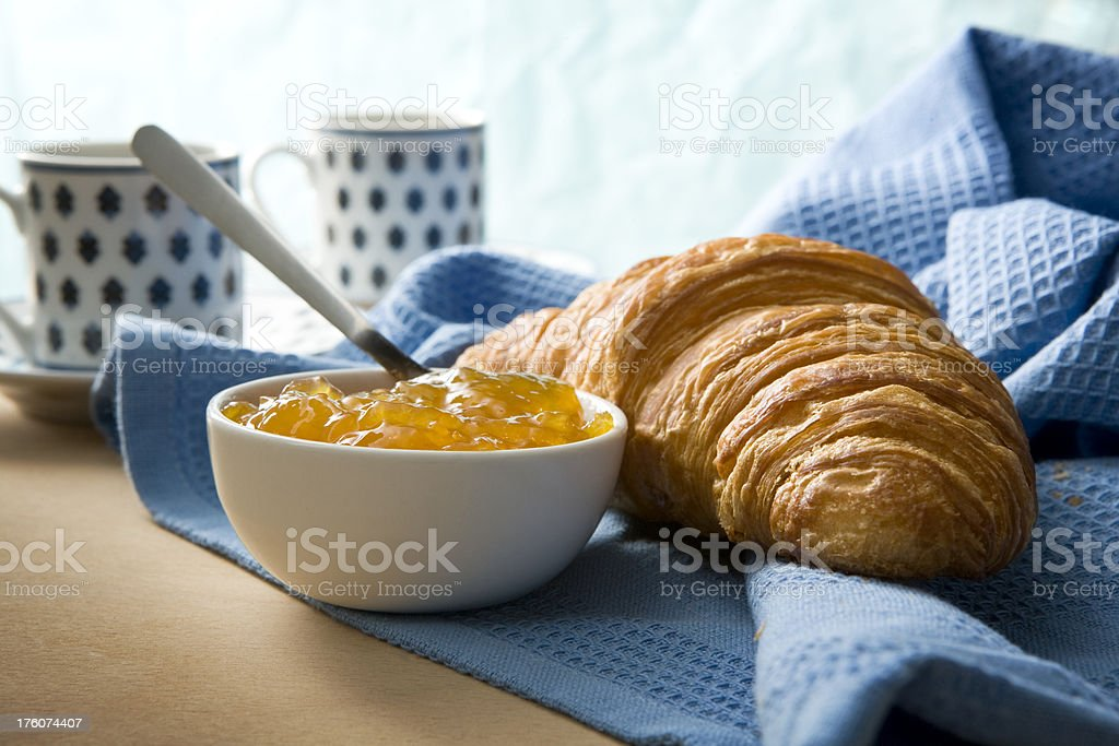 Pastry Stills: Croissant and Jam royalty-free stock photo