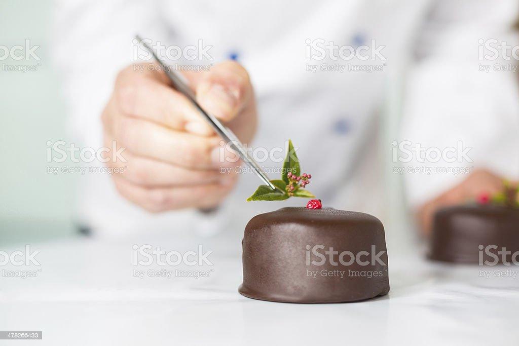 Doce com um bolo - foto de acervo