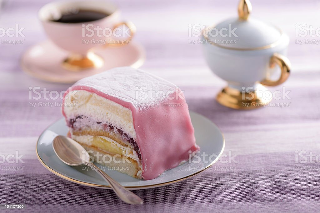 Pastry with coffee royalty-free stock photo