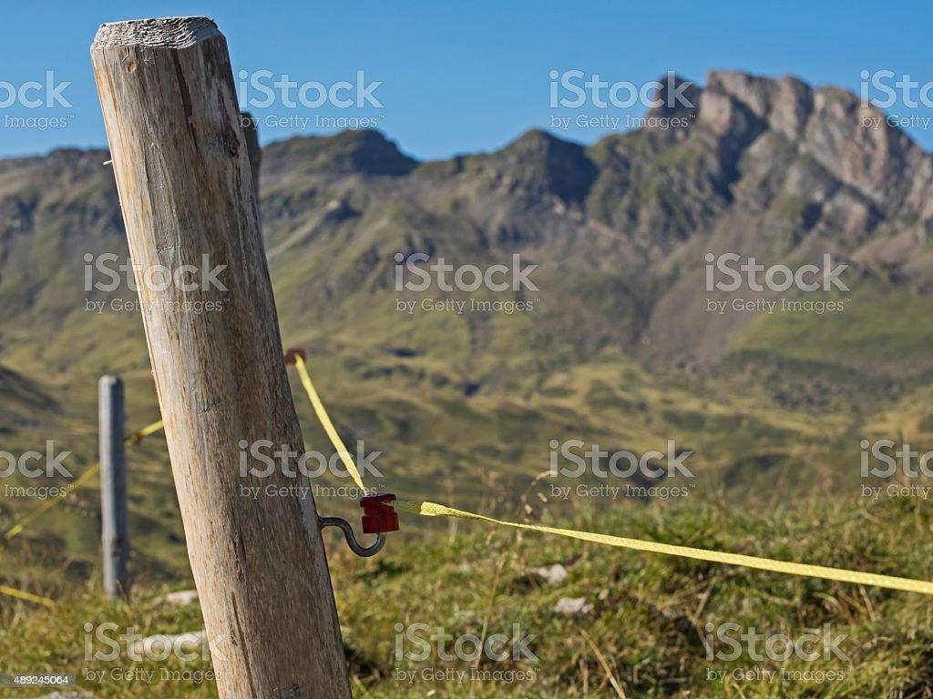 Pasture fence, Weidezaun stock photo