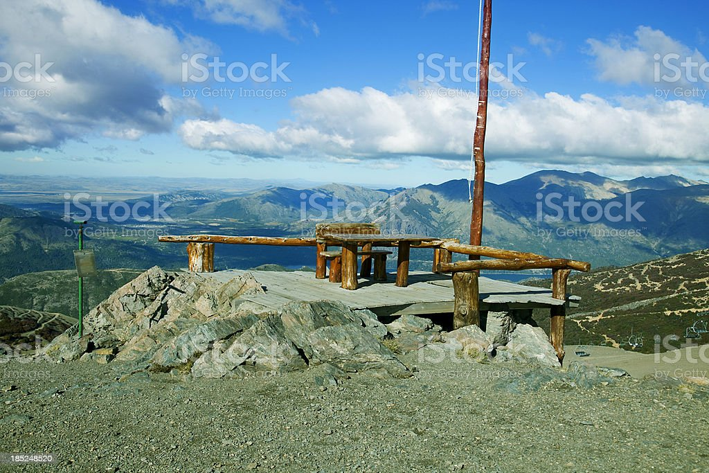 Patagonia Argentina Cerro Catedral View royalty-free stock photo