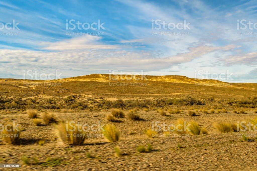 Patagonia Landscape Santa Cruz, Argentina stock photo