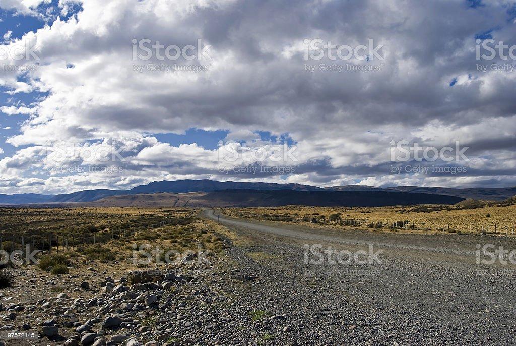 La Patagonie Road photo libre de droits