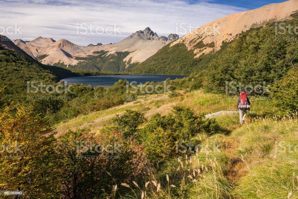 Patagonia Trekking stock photo