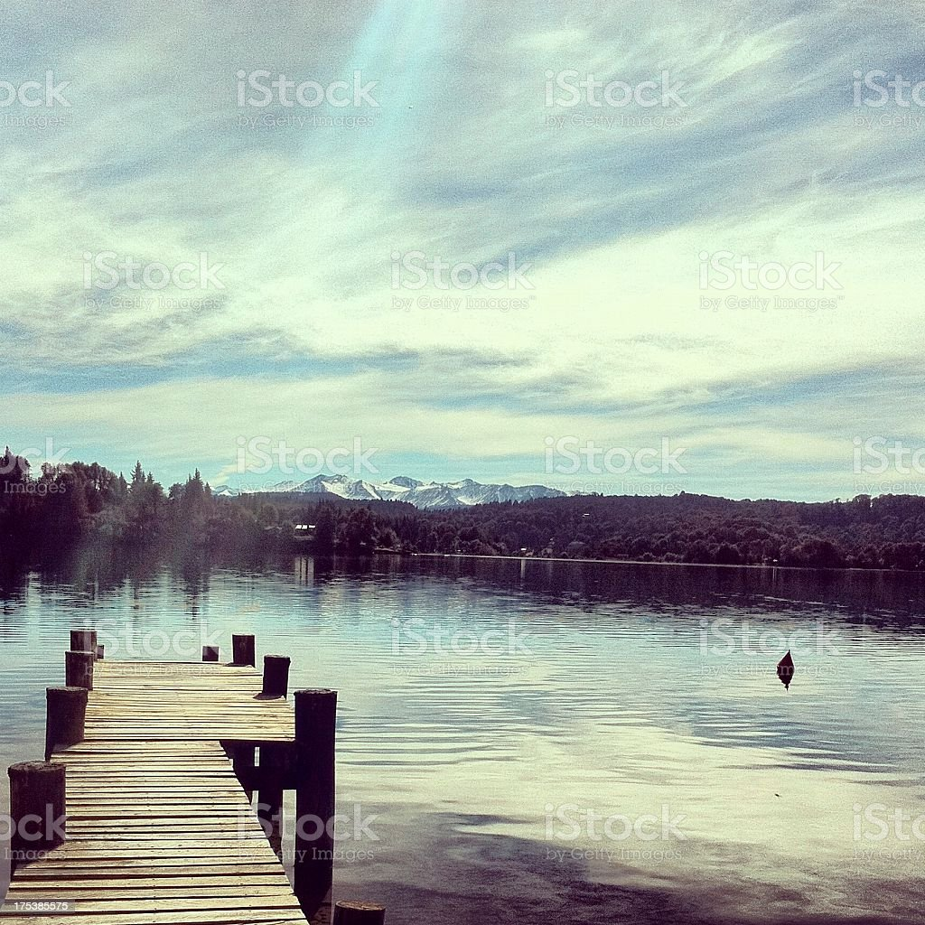 Patagonian landscape royalty-free stock photo