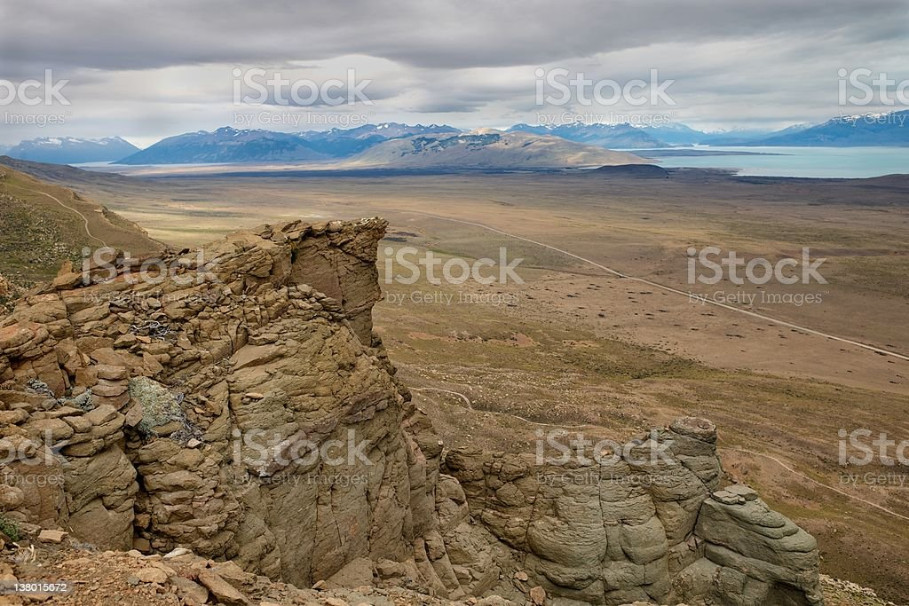 Patagonian steppe stock photo