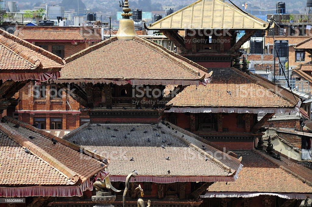 Patan palace at Durbar Square in Kathmandu, Nepal royalty-free stock photo