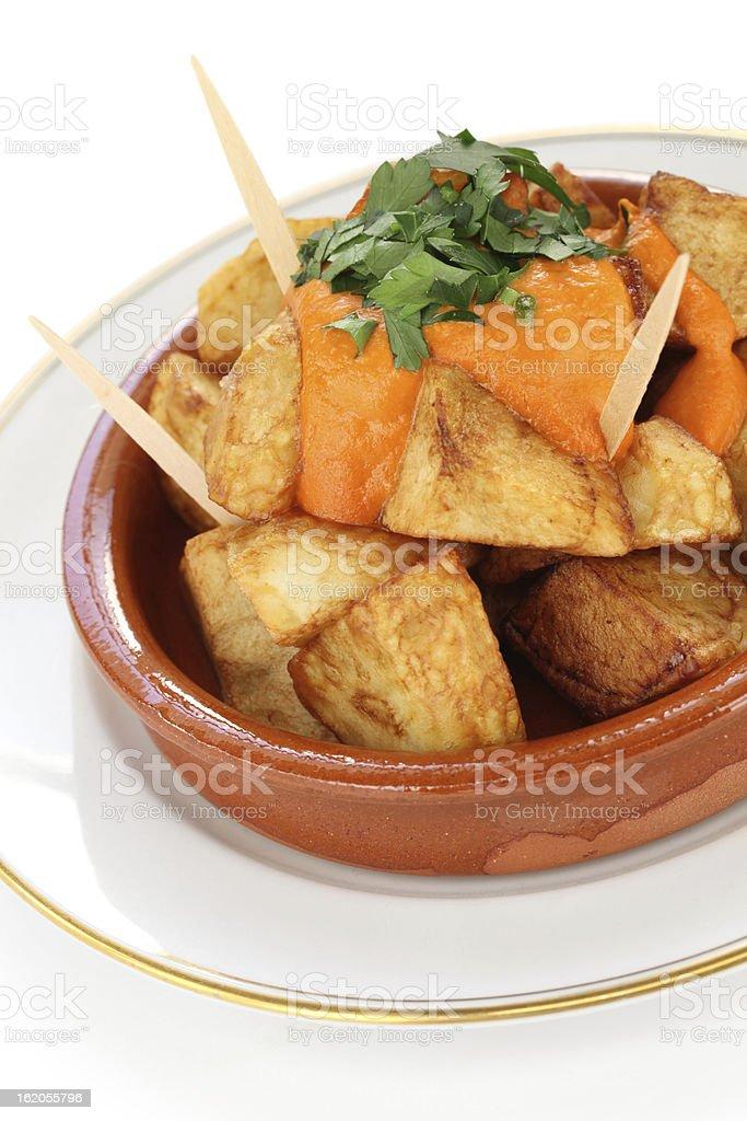 patatas bravas, spanish tapas stock photo