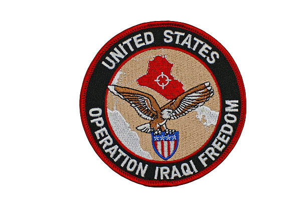 Patch Honoring Operation Iraqi Freedom Soldiers stock photo