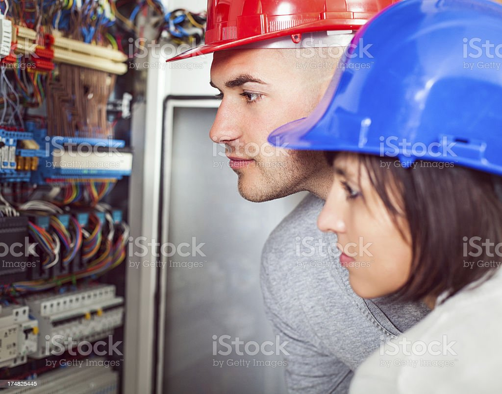 Patch Panel Inspection stock photo