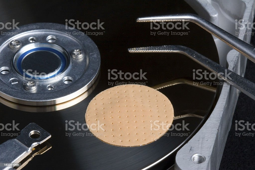Patched software on hard disk royalty-free stock photo