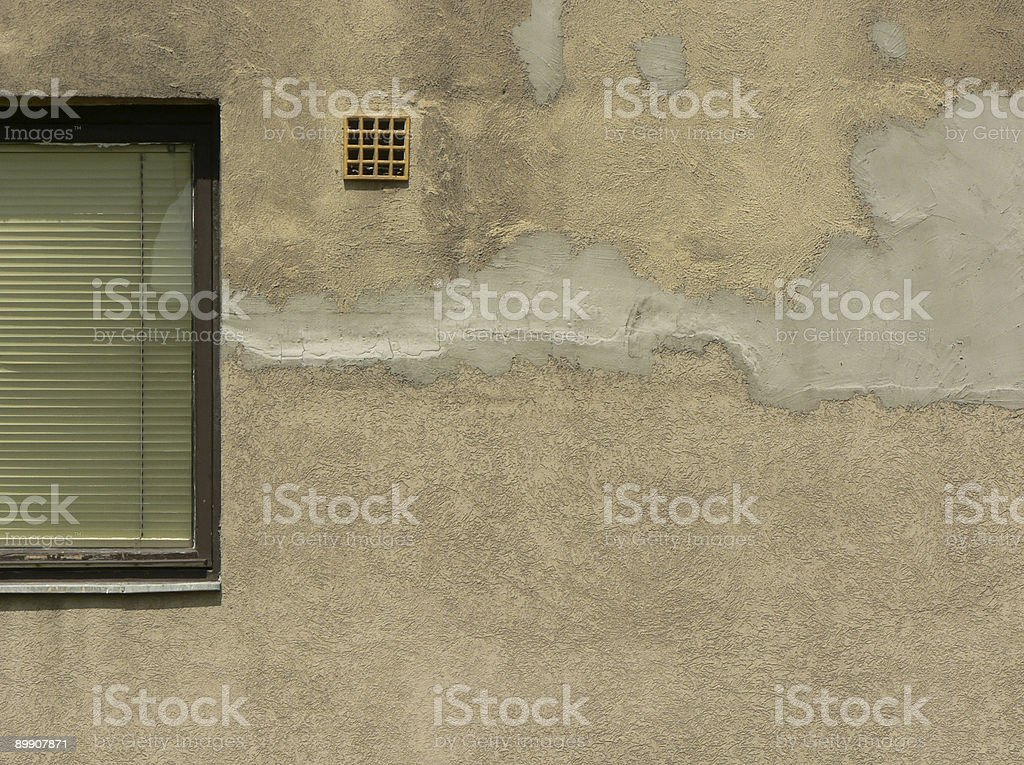 Patched Wall royalty-free stock photo