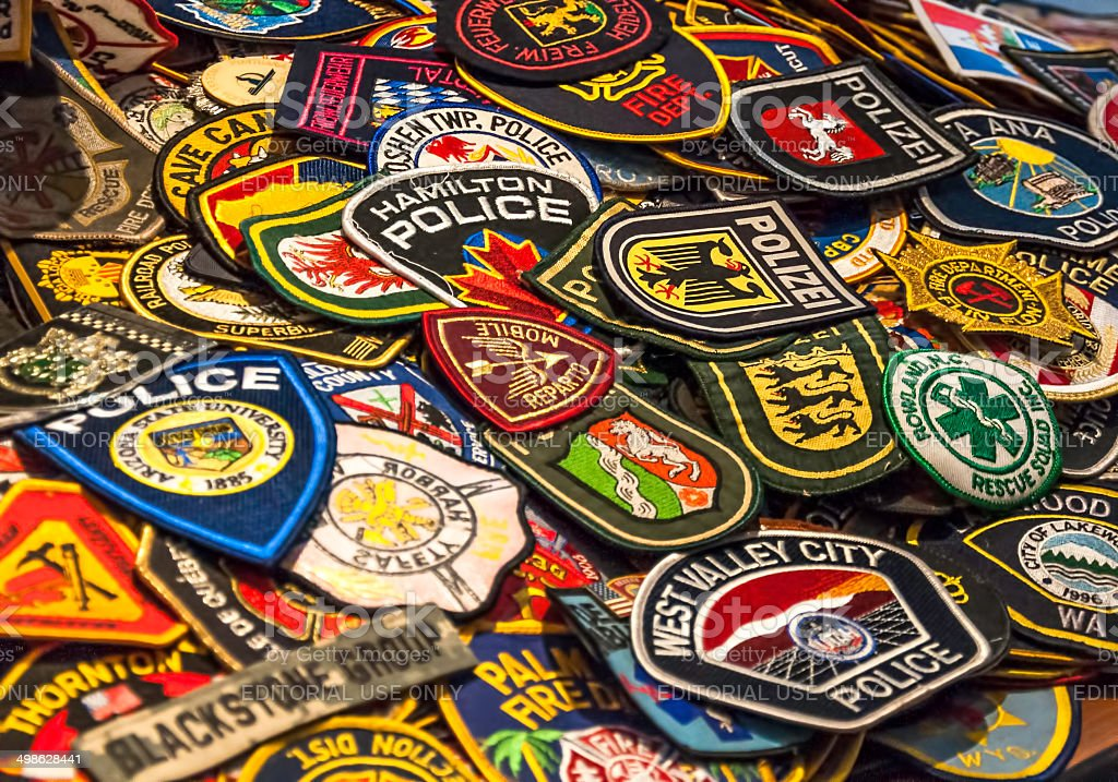 Patches of Hero's stock photo