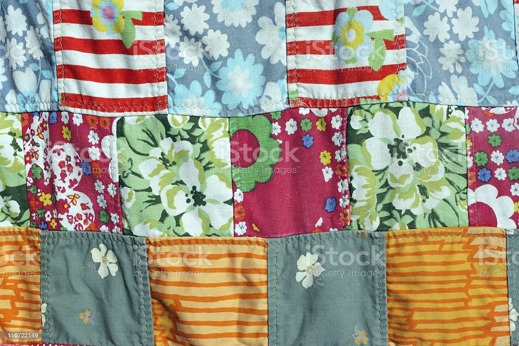Patchwork blanket royalty-free stock photo