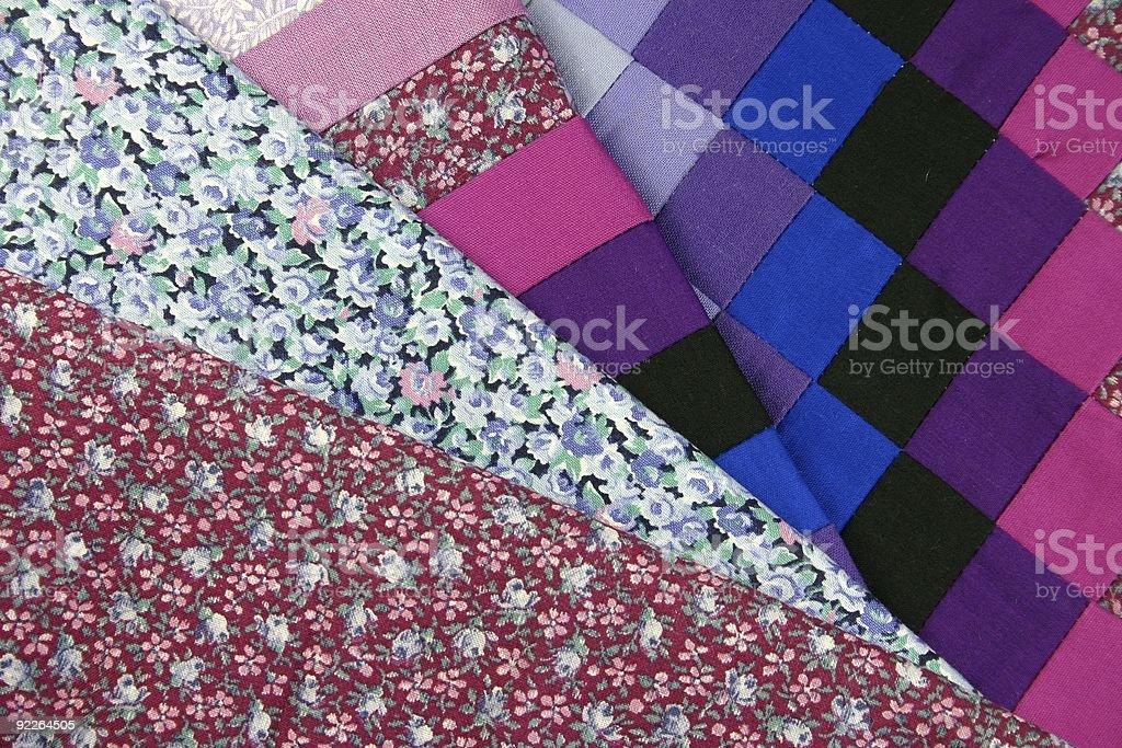 Patchwork Fabrics royalty-free stock photo