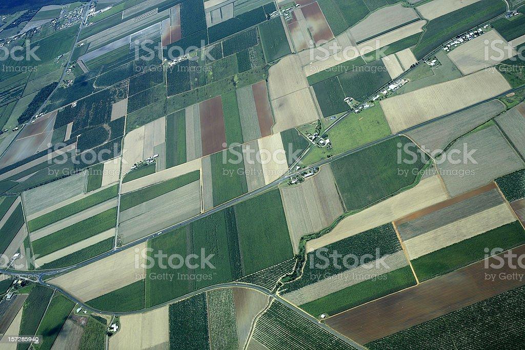 Patchwork Farmland stock photo