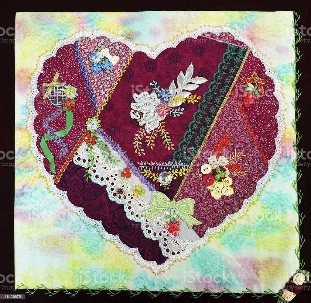 Patchwork Heart. royalty-free stock photo