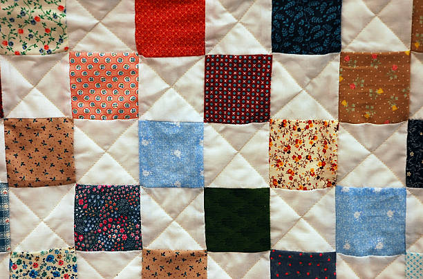 patchwork quilt - quilt stock photos and pictures