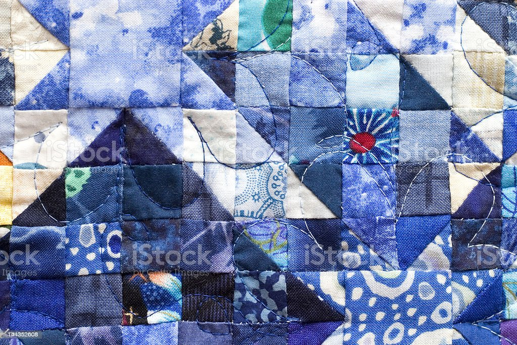 Patchwork Quilt squares stock photo
