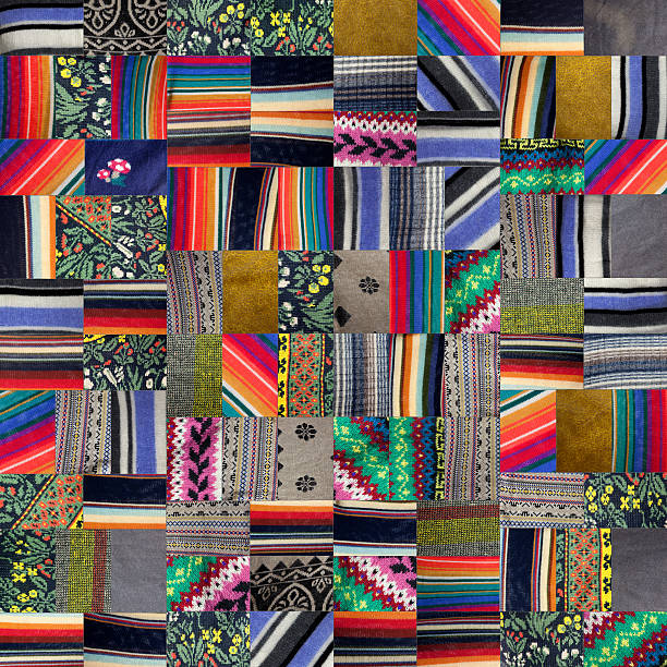 Patchwork Quilt -XXXl stock photo
