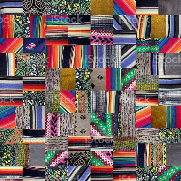 Patchwork Quilt Xxxl Stock Photo - Download Image Now
