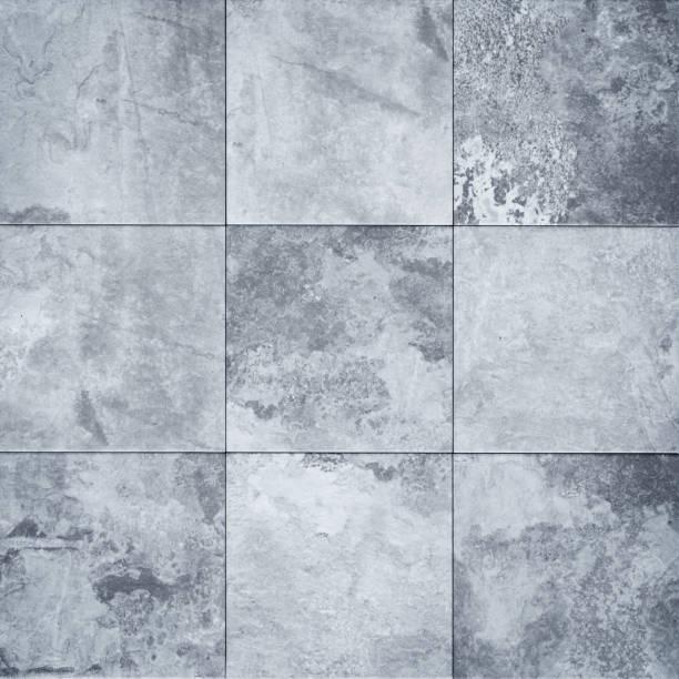 Patchwork-Kachel mit Steinstruktur - gekachelter Hintergrund – Foto