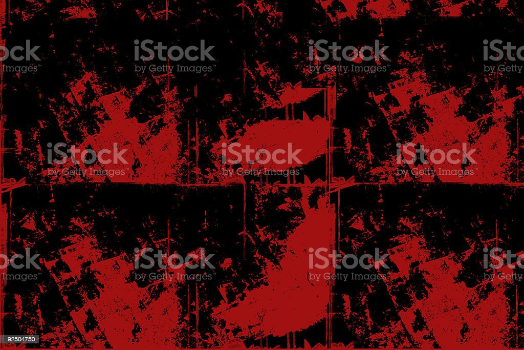 Patchy Grunge Background - Red and Black stock photo