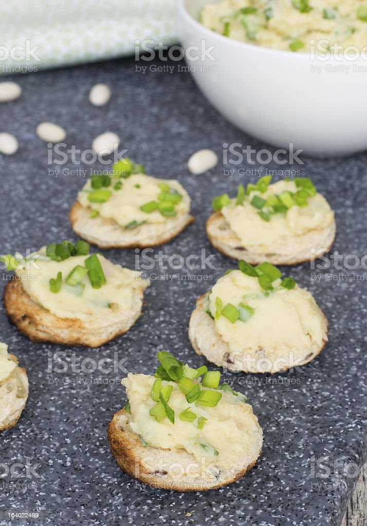 Pate from whire beans with orange juice royalty-free stock photo