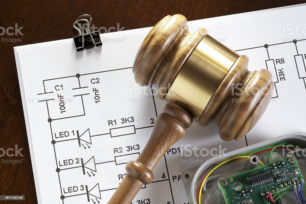 Patent for Electronics stock photo