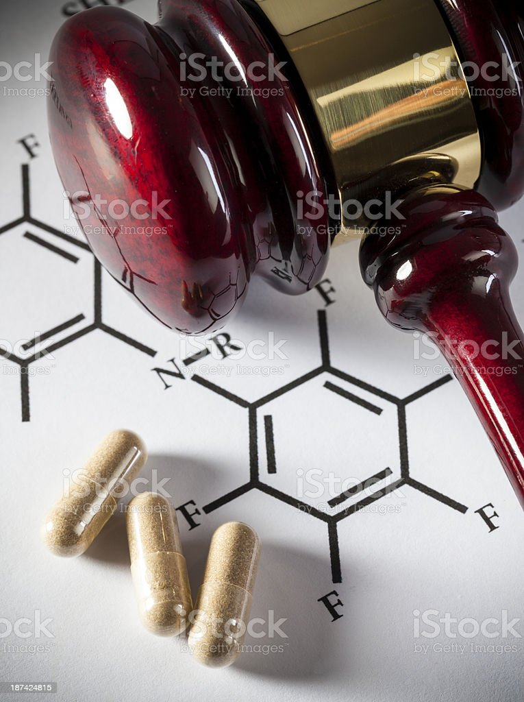 Patent law - Pharmaceutical royalty-free stock photo