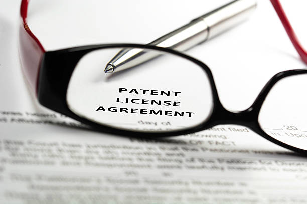 Patent license agreement stock photo