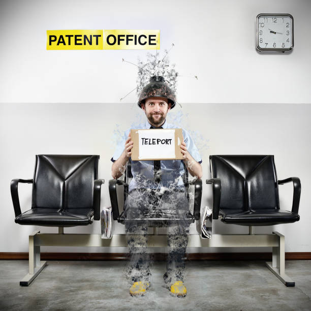 Oficina de Patentes serie: Teleport - foto de stock