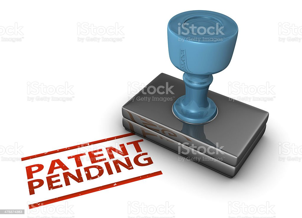 Patent Pending Stamp stock photo