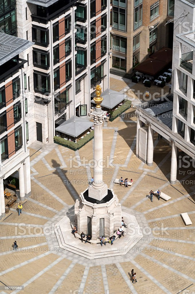 Paternoster Square, City of London stock photo